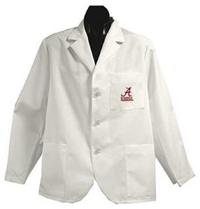 University of Alabama White Short Labcoats