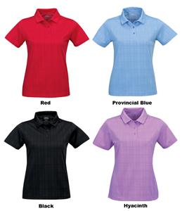TRI MOUNTAIN Lady Montecito Tonal Plaid Polo