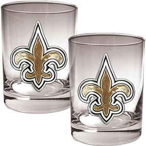 NFL New Orleans Saints 14oz Rocks Glass Set of 2