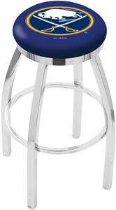 Buffalo Sabres NHL Flat Ring Chrome Bar Stool