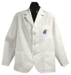 University of Kansas White Short Labcoats