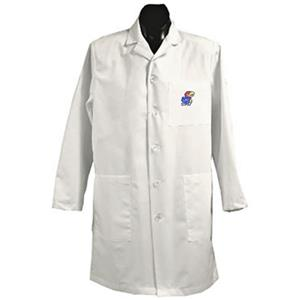 University of Kansas White Long Labcoats
