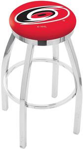 Carolina Hurricanes NHL Flat Ring Chrome Bar Stool