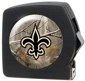 NFL New Orleans Saints 25&#39; RealTree Tape Measure