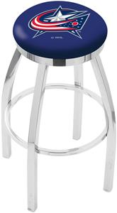 Columbus Blue Jackets Flat Ring Chrome Bar Stool