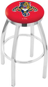 Florida Panthers NHL Flat Ring Chrome Bar Stool