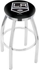 Los Angeles Kings NHL Flat Ring Chrome Bar Stool