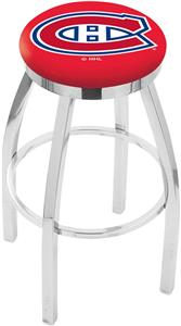 Montreal Canadiens NHL Flat Ring Chrome Bar Stool