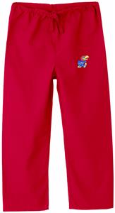 University of Kansas Kid's Red Scrub Pant
