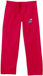 University of Kansas Red Classic Scrub Pants