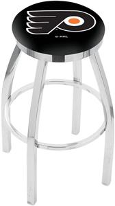 Philadelphia Flyers NHL Flat Ring Chrome Bar Stool
