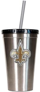 NFL New Orleans Saints 16oz Tumbler with Straw