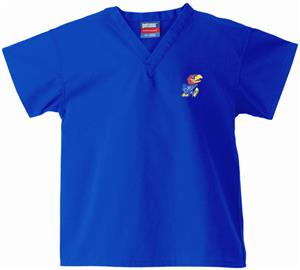 University of Kansas Kid's Royal Scrub Tops