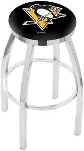 Pittsburgh Penguins NHL Flat Ring Chrome Bar Stool