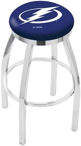 Tampa Bay Lightning NHL Flat Ring Chrome Bar Stool