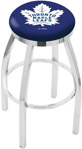 Toronto Maple Leafs NHL Flat Ring Chrome Bar Stool