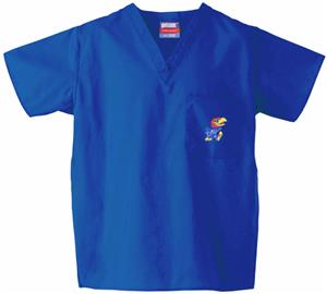 University of Kansas Royal Classic Scrub Tops