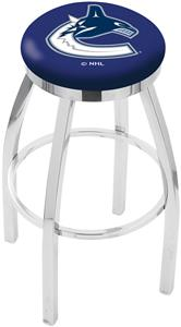 Vancouver Canucks NHL Flat Ring Chrome Bar Stool