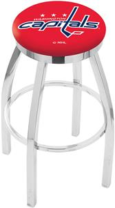 Washington Capitals NHL Flat Ring Chrome Bar Stool
