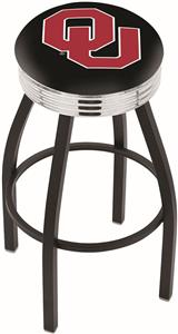 Oklahoma University Ribbed Ring Bar Stool
