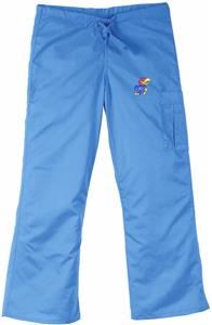 University of Kansas Sky Cargo Scrub Pants