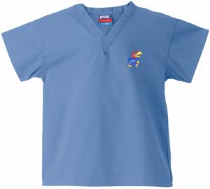 University of Kansas Kid's Sky Scrub Tops