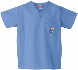 University of Kansas Sky Classic Scrub Tops
