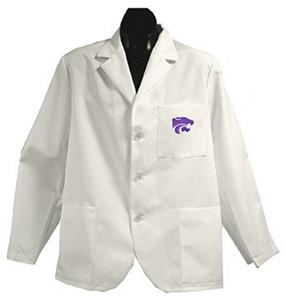 Kansas State University White Short Labcoats