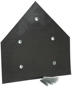 Porter Baseball Home Plate with Spikes