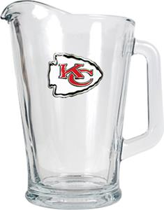 NFL Kansas City Chiefs 1/2 Gallon Glass Pitcher