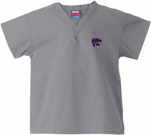 Kansas State University Kid&#39;s Gray Scrub Tops