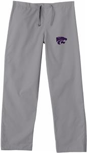 Kansas State University Gray Classic Scrub Pants