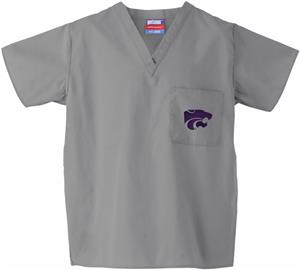 Kansas State University Gray Classic Scrub Tops