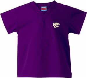 Kansas State University Kid's Purple Scrub Tops