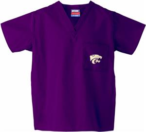 Kansas State University Purple Classic Scrub Tops