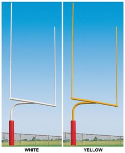 Porter Steel Plate Mount Football Goals - 6'