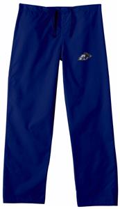 University of Akron Navy Classic Scrub Pants