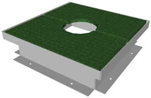 Porter Football Access Frame Kit-Turf Covered