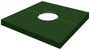 Porter Football Pole Plug - Turf Covered Wood