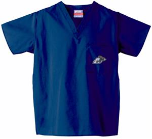 University of Akron Navy Classic Scrub Tops