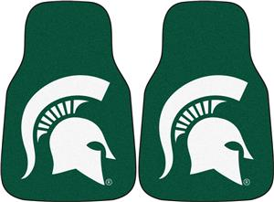 Fan Mats Michigan State Univ Carpet Car Mats SET