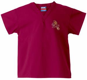Arizona State University Kid&#39;s Crimson Scrub Tops