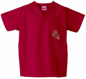 Arizona State University Crimson Scrub Tops