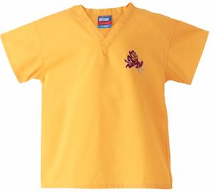 Arizona State University Kid's Gold Scrub Tops