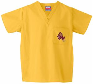 Arizona State University Gold Classic Scrub Tops