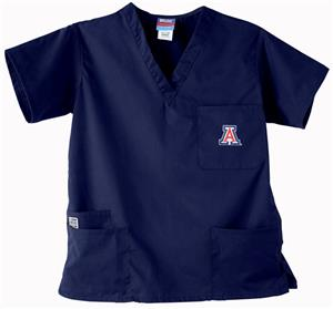 University of Arizona Navy 3-Pocket Scrub Tops