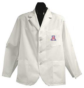 University of Arizona White Short Labcoats