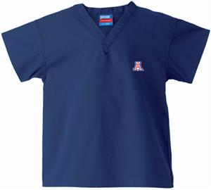 University of Arizona Kid's Navy Scrub Tops