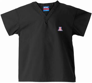 University of Arizona Kid's Black Scrub Tops
