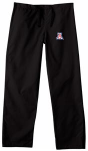 University of Arizona Black Classic Scrub Pants